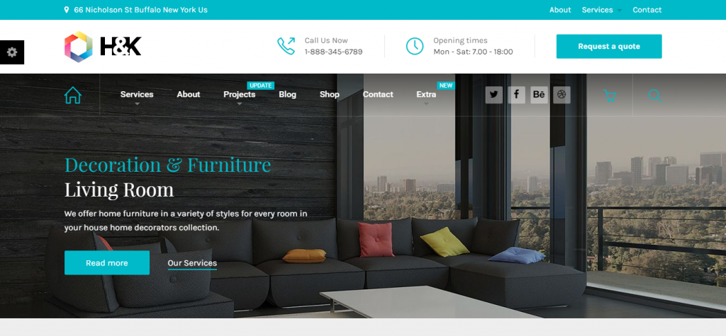 Hnk Business and Architecture WordPress Theme