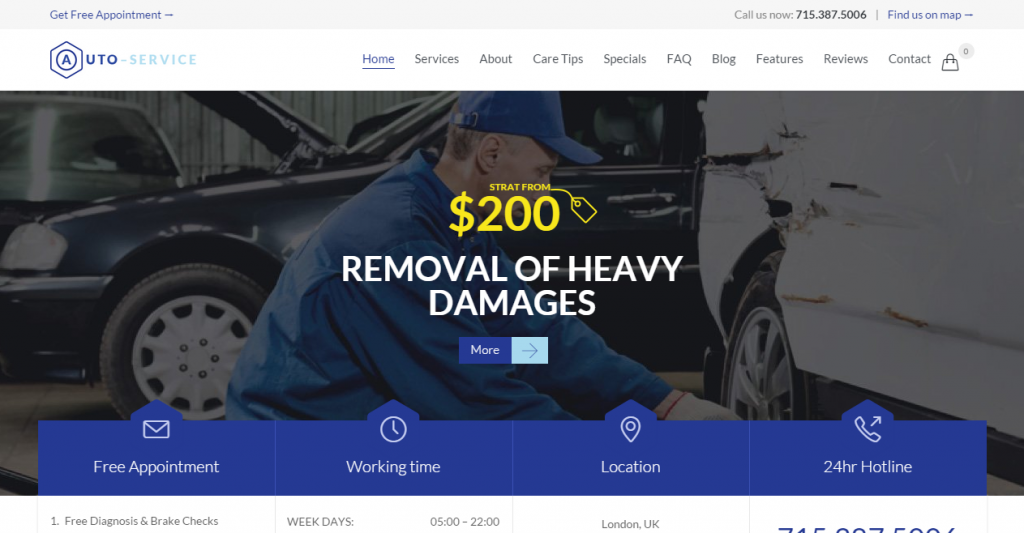 Home Auto Repair Theme