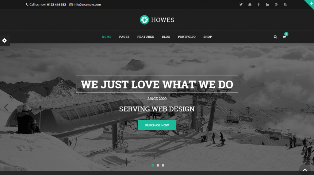 Howes Responsive Multi-Purpose WordPress Theme