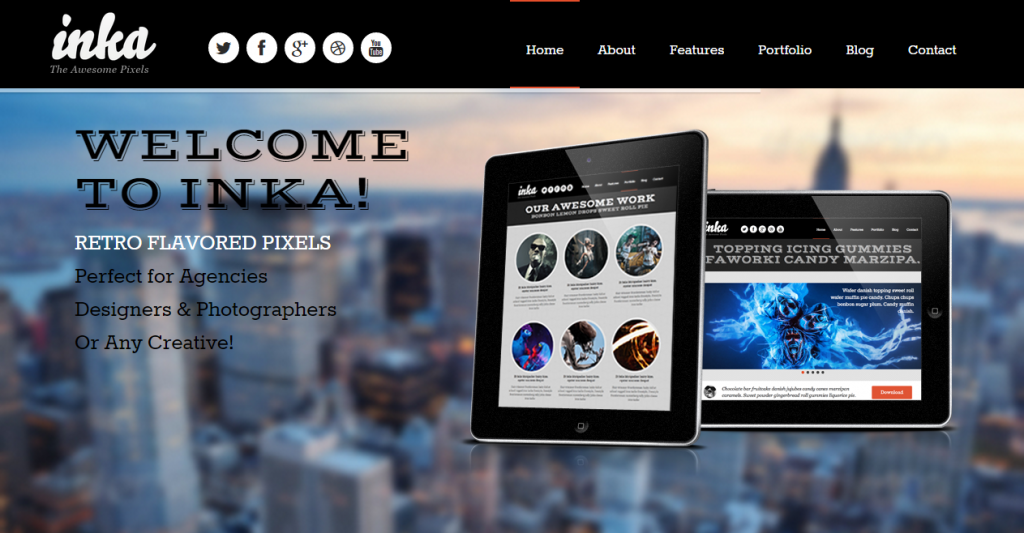 INKA Retro Responsive Multi-Purpose Template