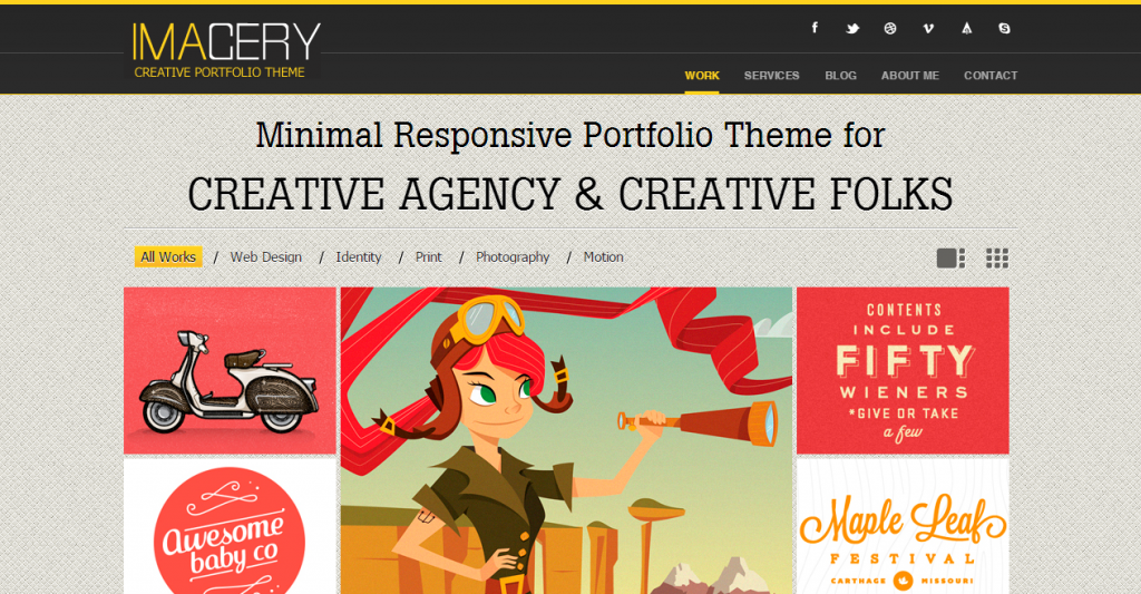 Imagery Single Page Responsive Portfolio