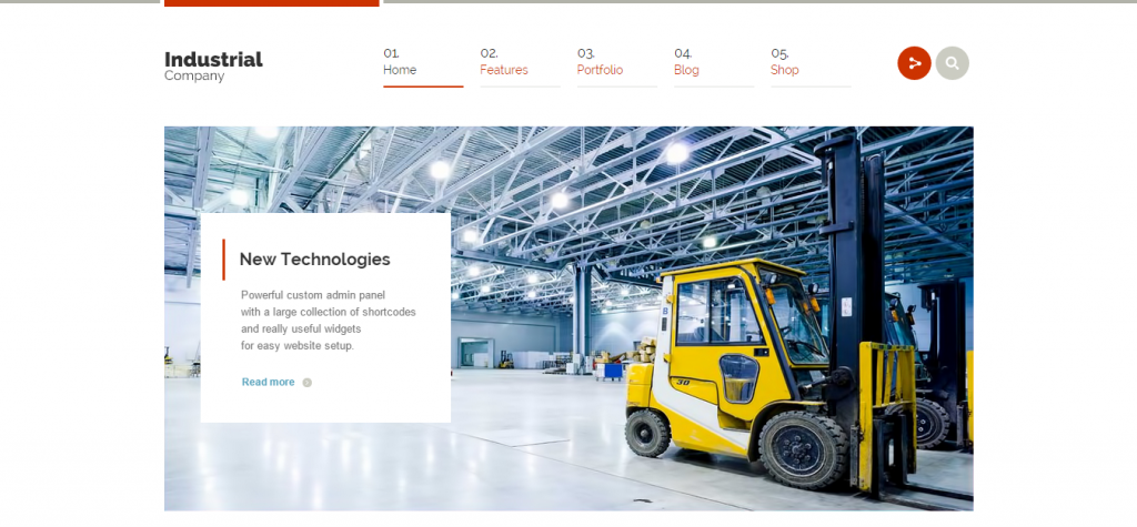 Industrial Multi-Purpose Responsive WP Theme