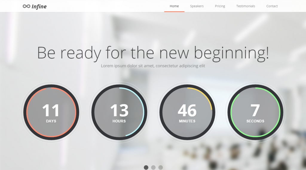 Infine One Page Conference & Event Template