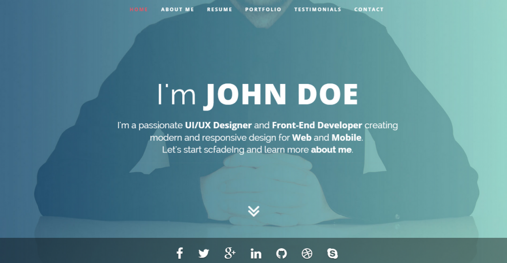 Intima Clean & Responsive Resume Template