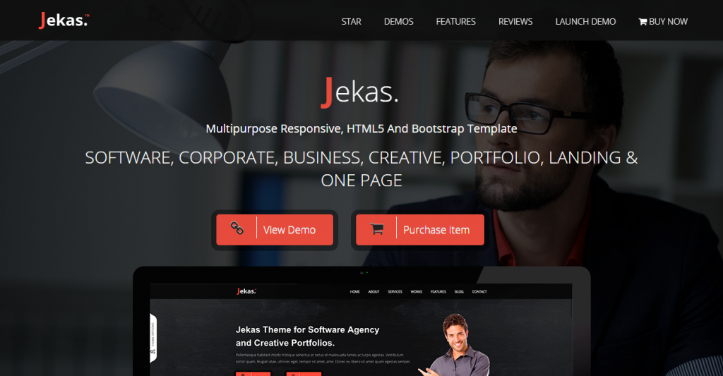 Jekas Software & Business Bootstrap Template