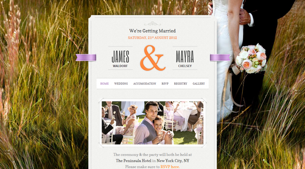 Just Married Wedding Event HTML Theme