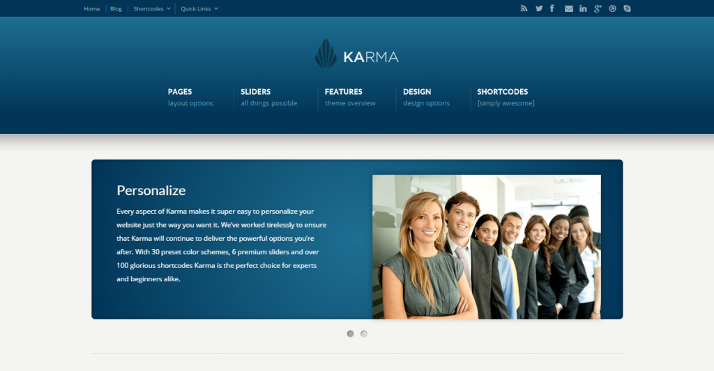 Karma Responsive Clean Website Template