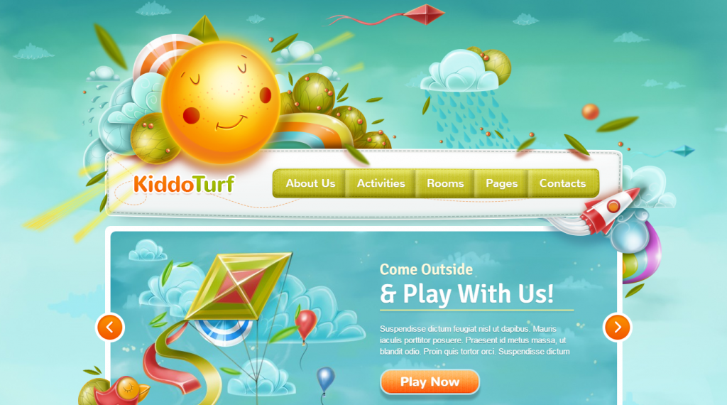 KiddoTurf Kids HTML Theme