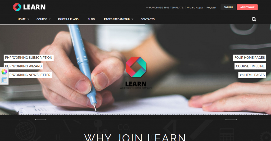 LEARN Courses, Workshop, Educational template