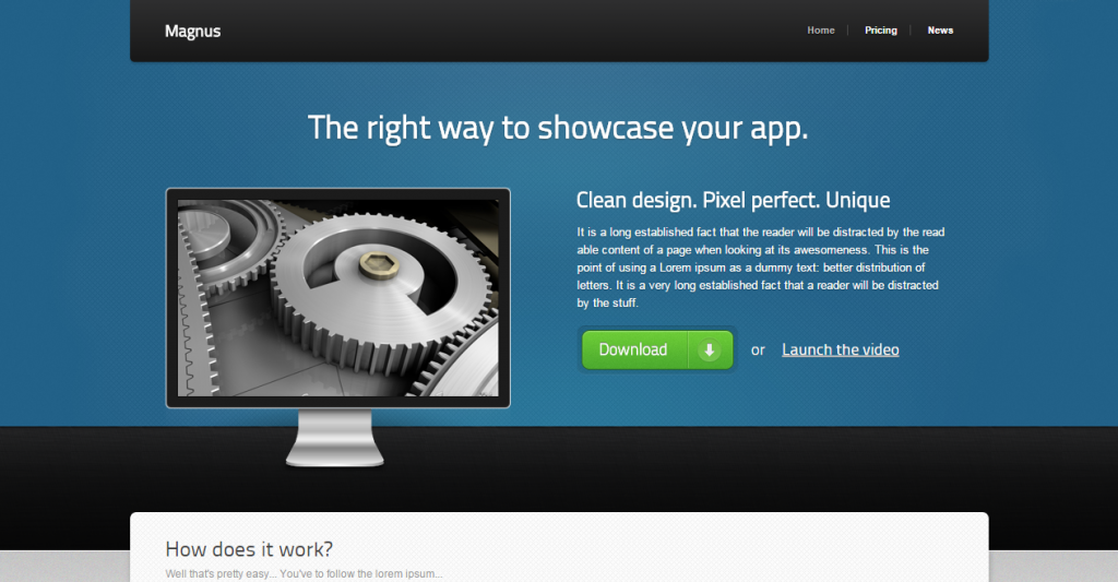 Magnus Software HTML5 Site Template