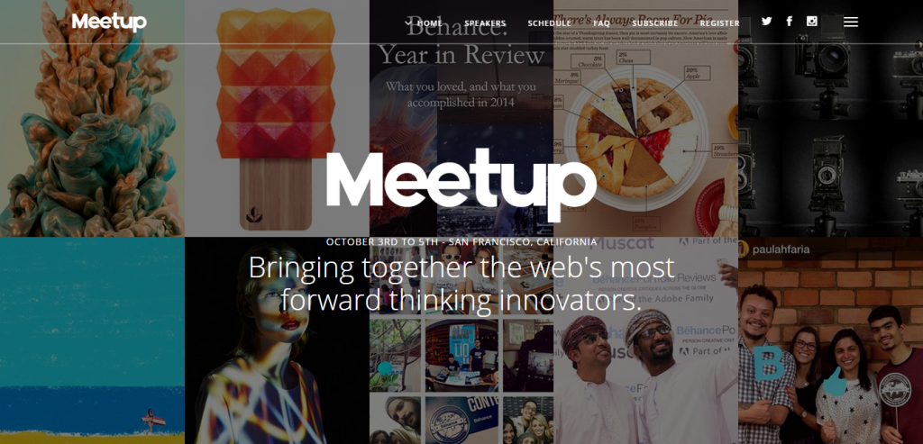 Meetup Conference & Event Landing Page With Page Builder