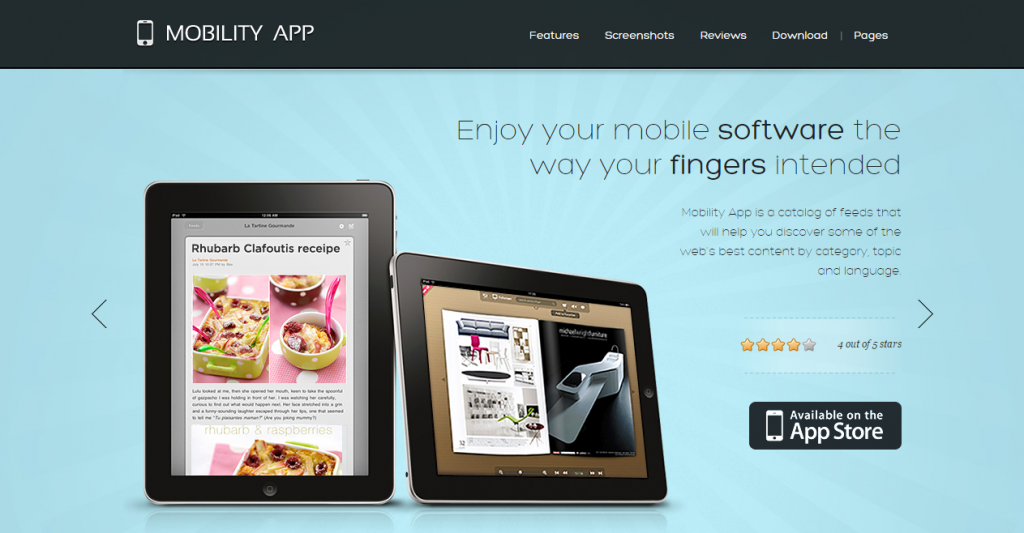 MobilityApp iPad, iPhone or Android app theme