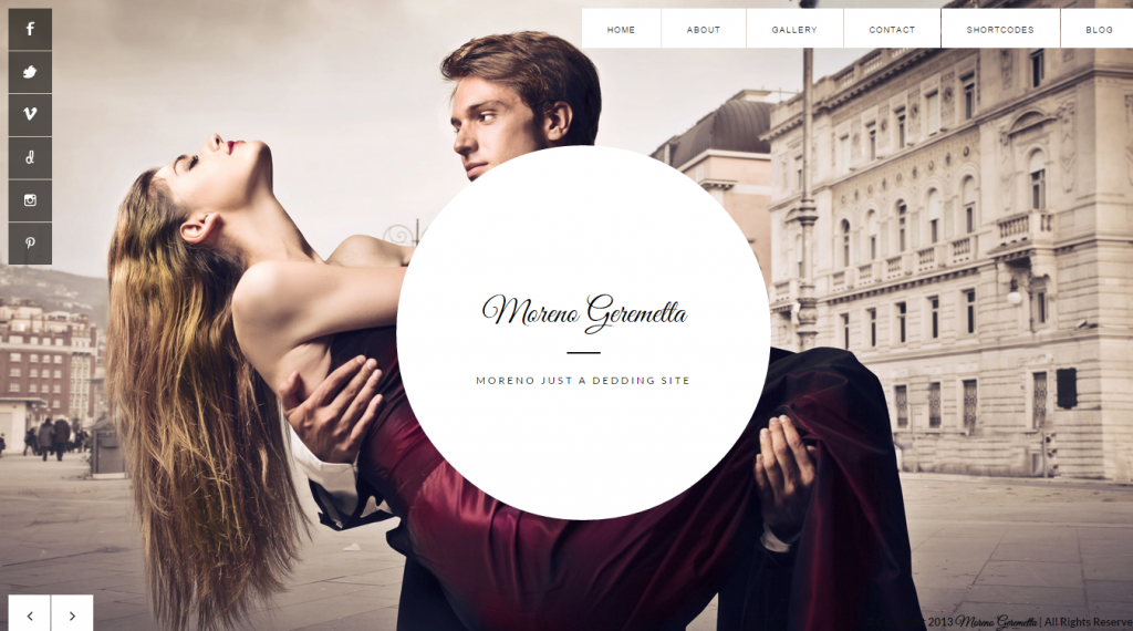 Moreno Responsive Wedding & Event Template