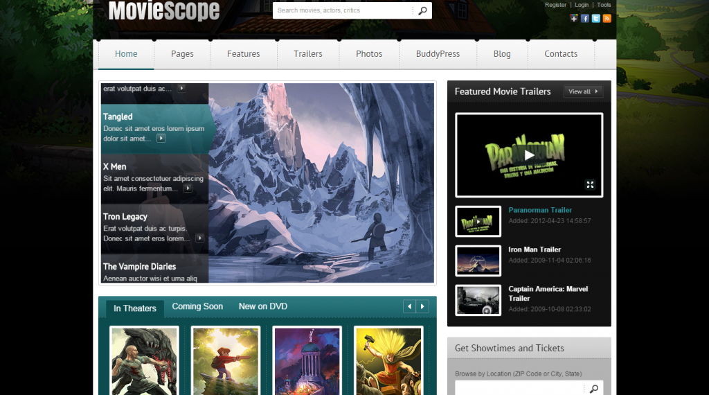 MovieScope HTML5 & CSS3 Portal Template
