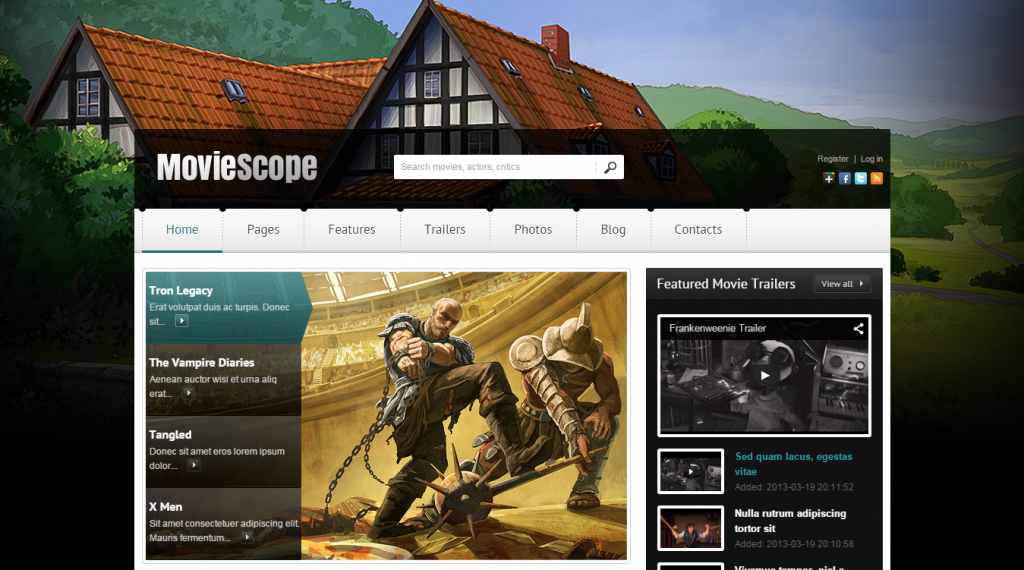 MovieScope Responsive WordPress Portal Theme
