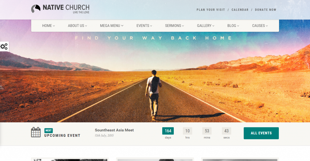 NativeChurch Responsive HTML5 Template