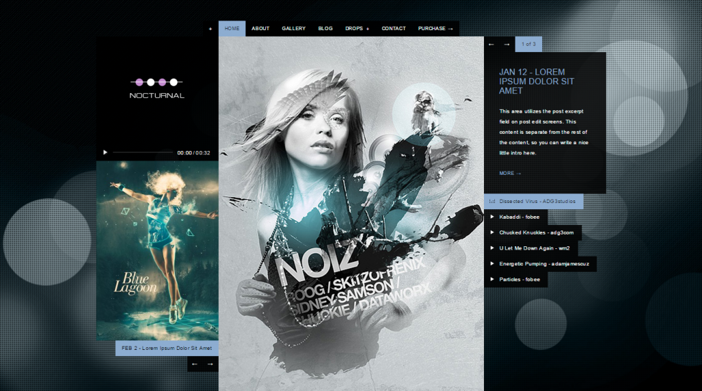 Nocturnal Premier Audio HTML Theme