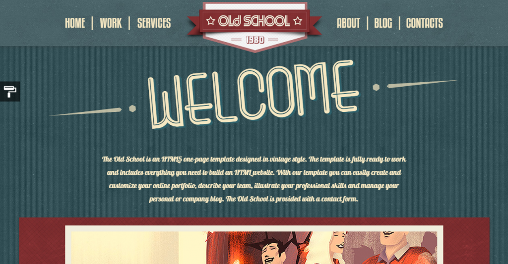 Old School The One-Page Vintage Portfolio Template