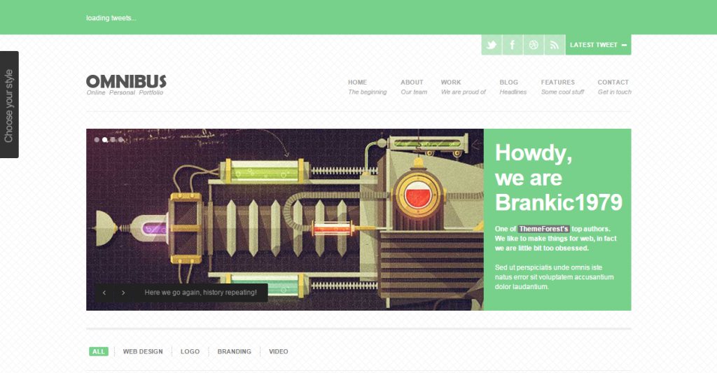 Omnibus Fully Responsive One Page Template
