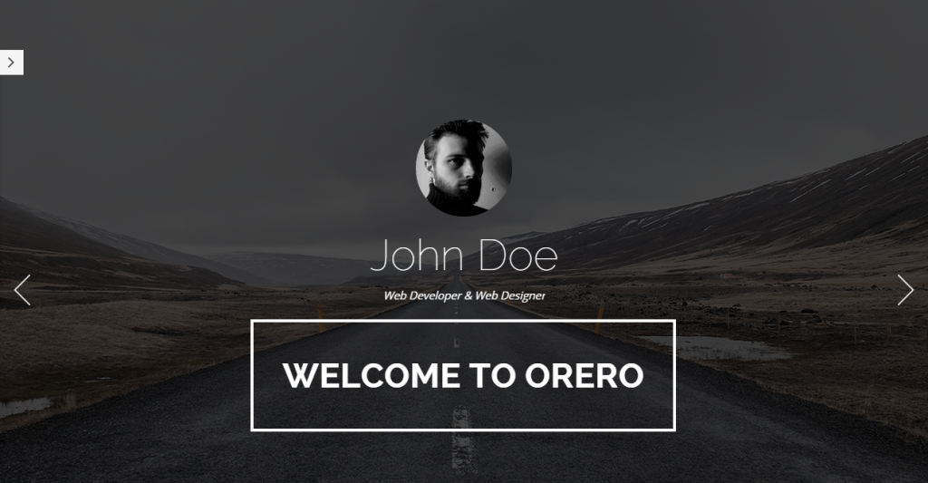 Orero Responsive One Page vCard Template