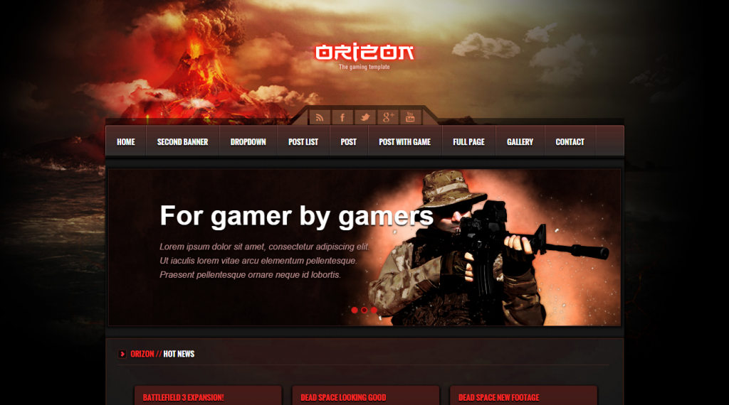Orizon The Gaming Template HTML version