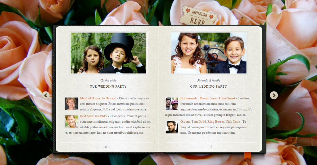 Our Little Wedding Book HTML5 Template
