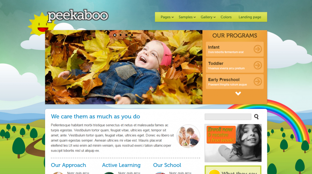 Pekaboo Children Theme HTML Template