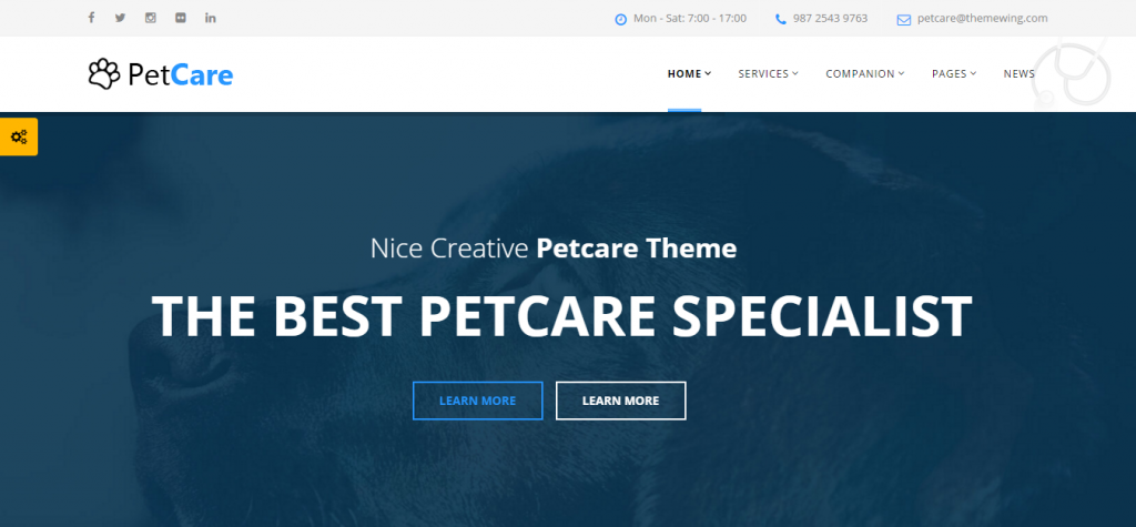 PetCare Responsive WordPress Theme