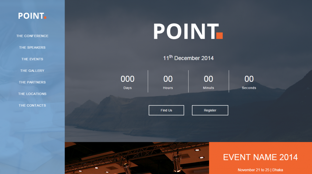 Point One Page Event and Conference Template