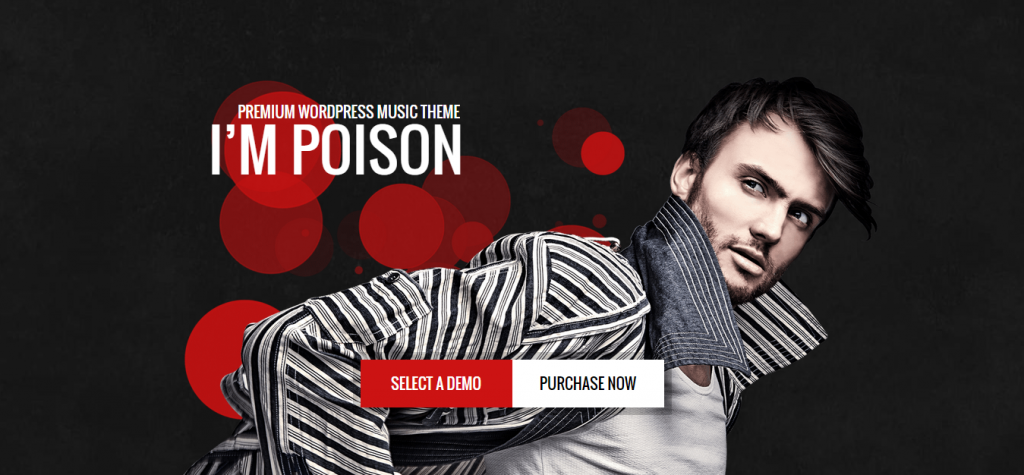 Poison Music Bands Artist Club WordPress Theme