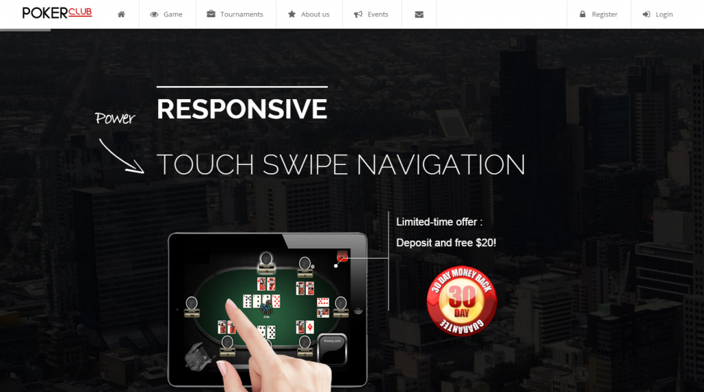 Poker Club Responsive Template