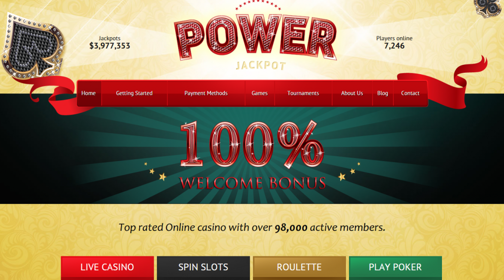 Power Jackpot glossy and shiny HTML theme