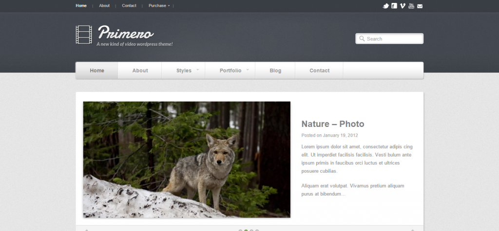 Primero Video WordPress Theme