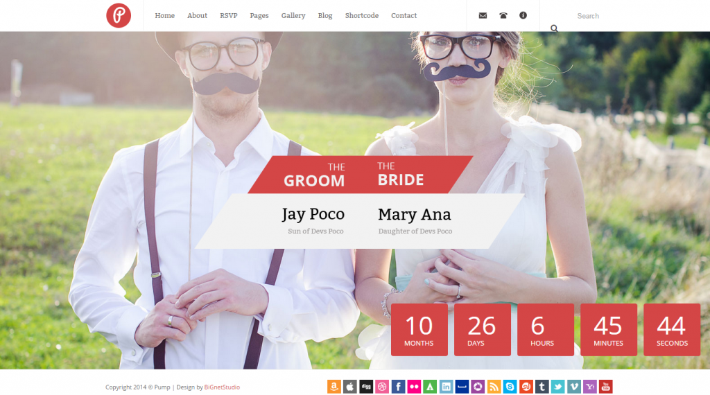 Pump Responsive Wedding & Event Template