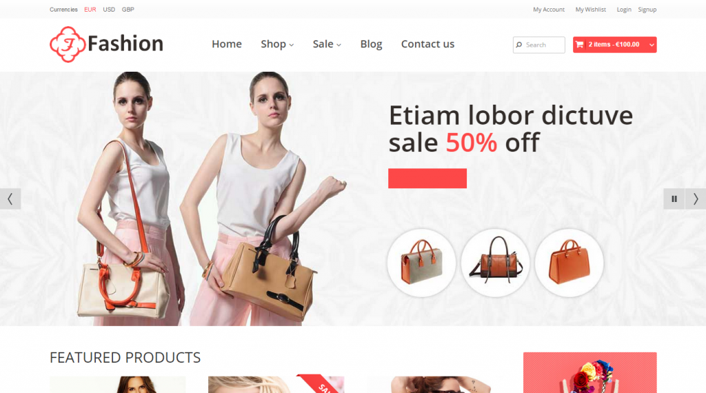 Responsive HTML Template Fashion