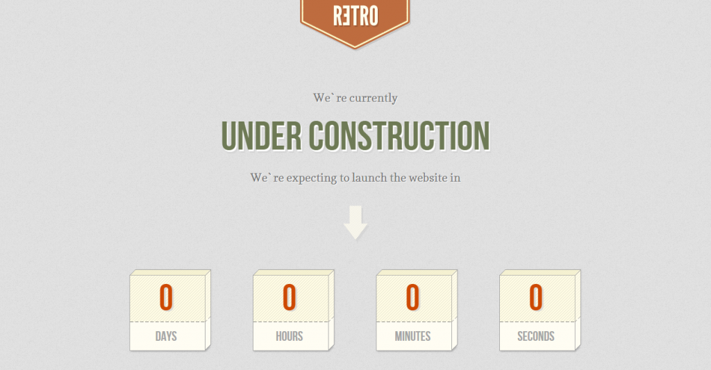 Retro Under Construction Coming Soon Template