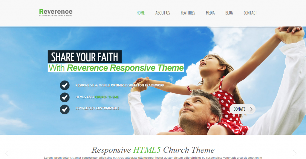 Reverence Church Responsive HTML 5 Theme