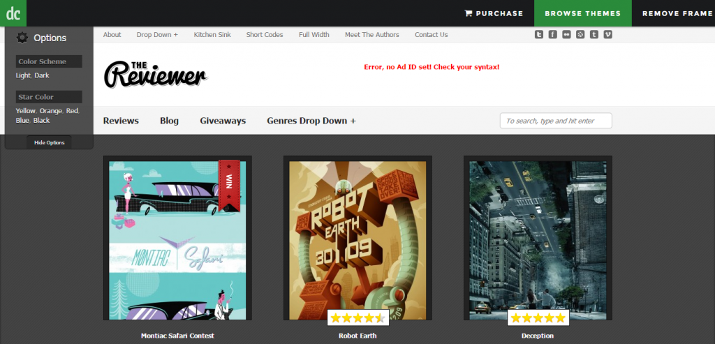 Reviewer WP Theme for Entertainment Reviews