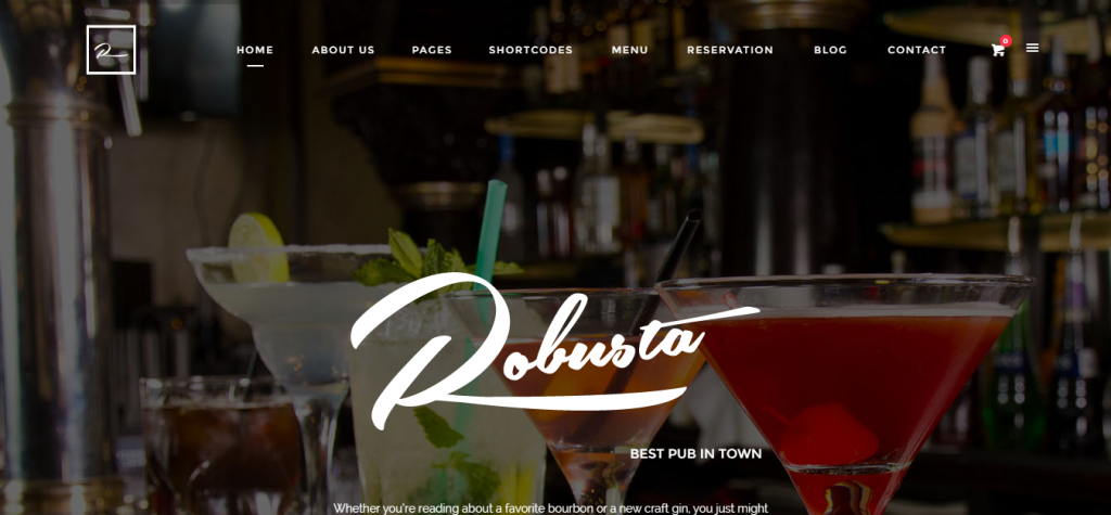 Robusta Restaurant, Bar, Pub Responsive WooCommerce WordPress Theme