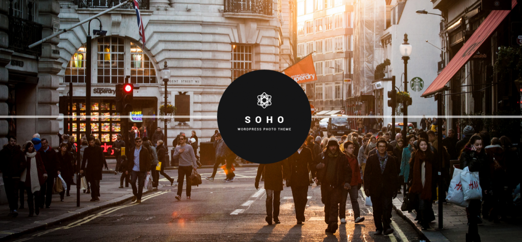 SOHO Fullscreen Photo & Video WordPress Theme