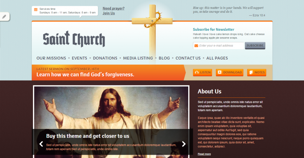 SaintChurch Responsive HTML5 Template