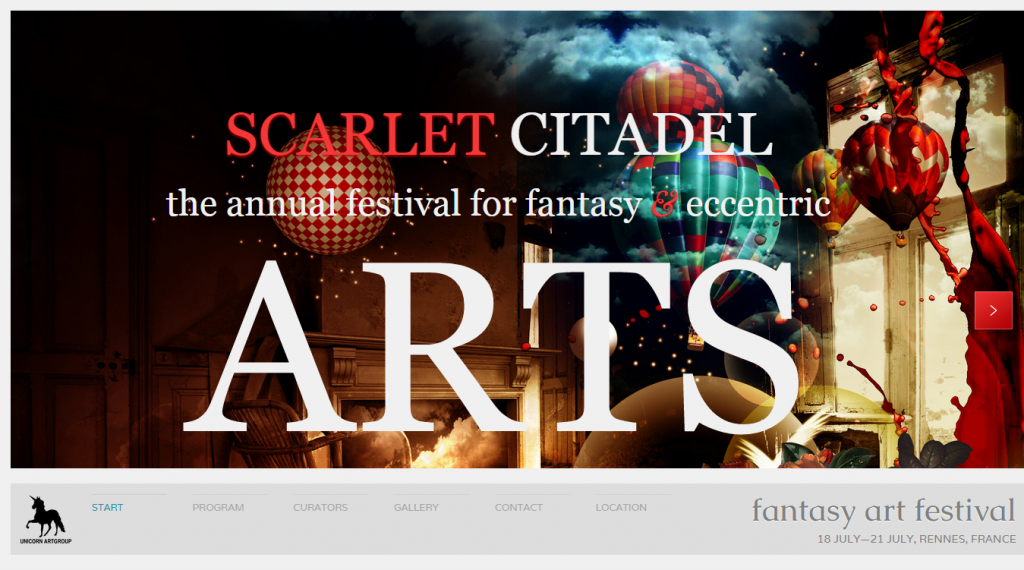 Scarlet Citadel Bright Scrollable Event Web Flyer