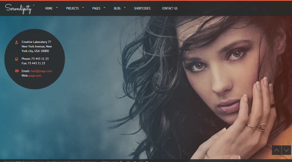 Serendipity Fullscreen Photography HTML5 Template