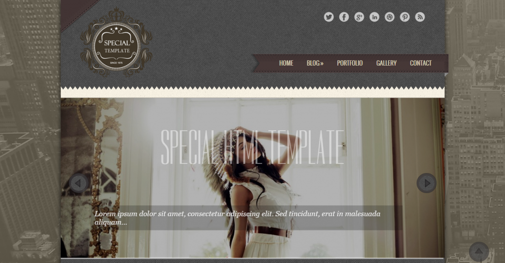 Special Responsive Vintage HTML5 Template