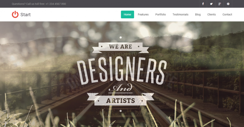 Start Responsive One Page Template