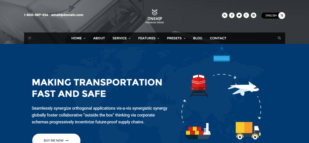 Unship TransPort WordPress Theme