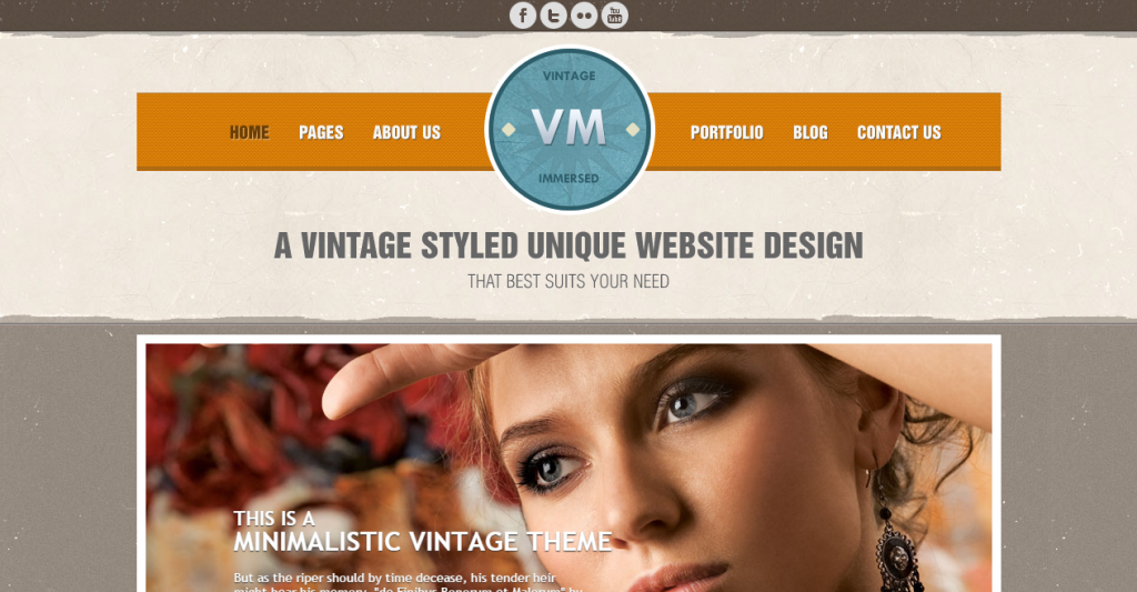 Vintage Immersed Multipurpose HTML Template