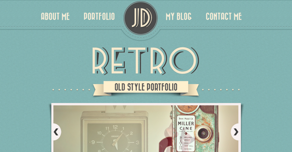 Image gallery retro template for Photo gallery html template free download