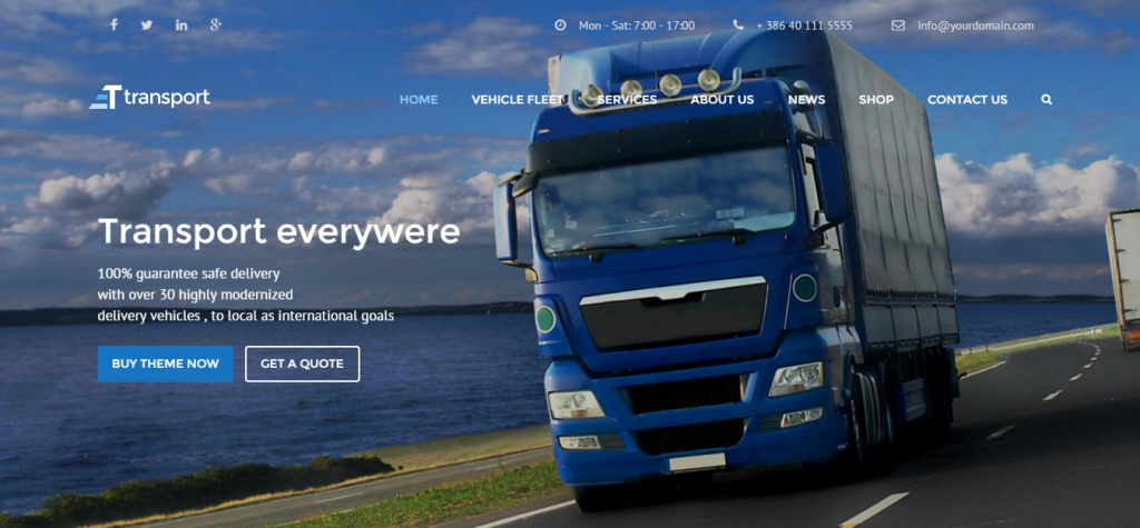 WP Transportation & Logistic Theme