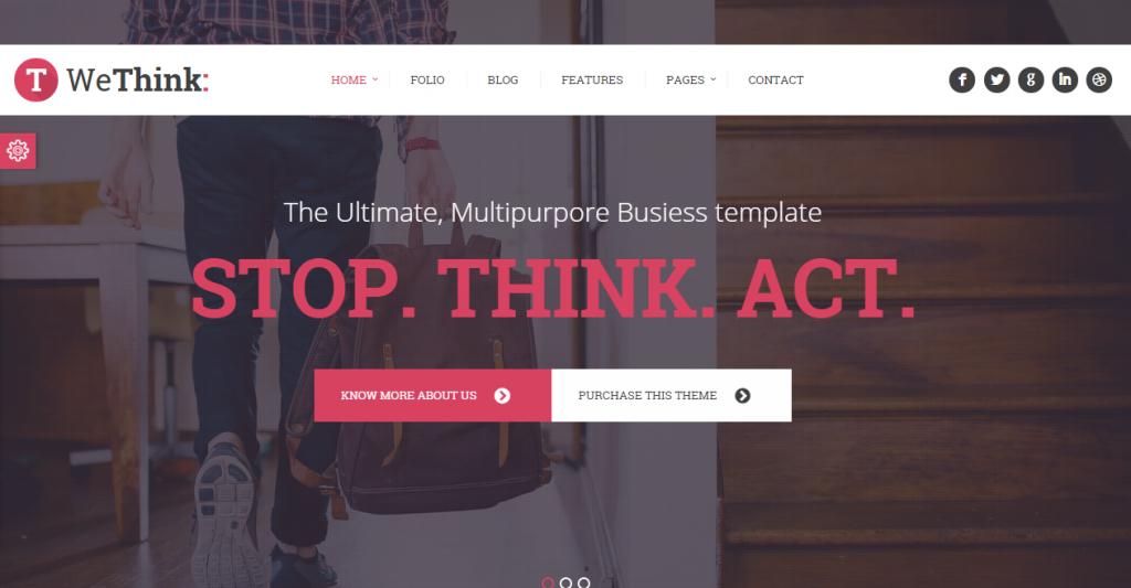 We Think Single&Multi Page Parallax Template